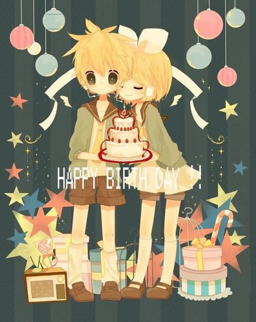 Картинки с днем рождения аниме 11